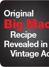 Original Big Mac Recipe Revealed in Vintage Ad