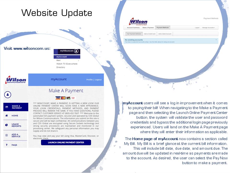 Website Update