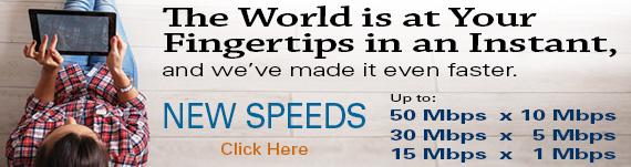 New Internet Speeds