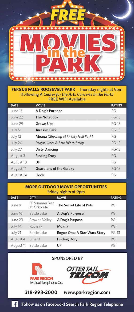 Movies in the Park Schedule